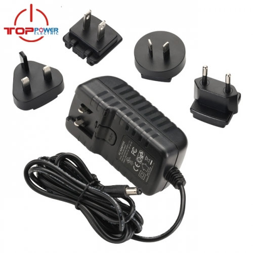 Interchangeable plug 9V 3A AC Adapter