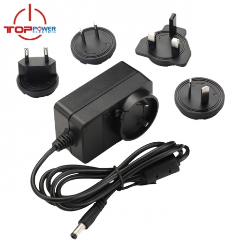 9V 1.0A interchageable Plug Power Adapter
