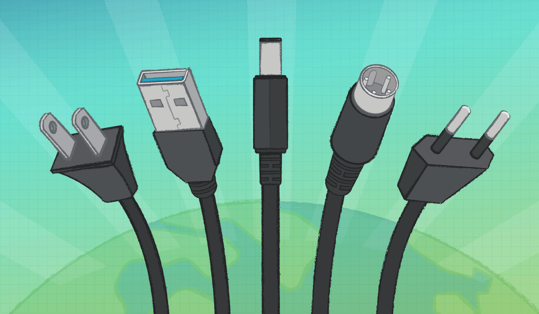Choose the right input and output plugs for your Power adapter